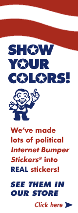 Buy political stickers in our store!